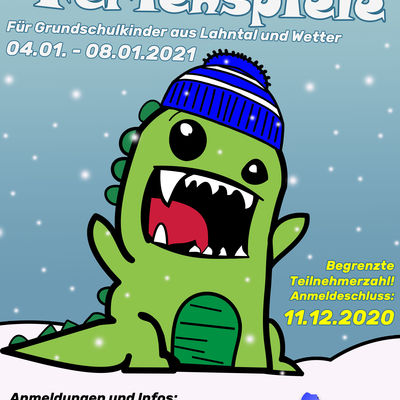 Flyer Winter-Ferienspiele 2021